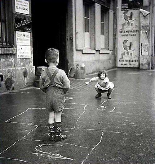 Gérald Bloncourt - The hopscotch, Paris 1960