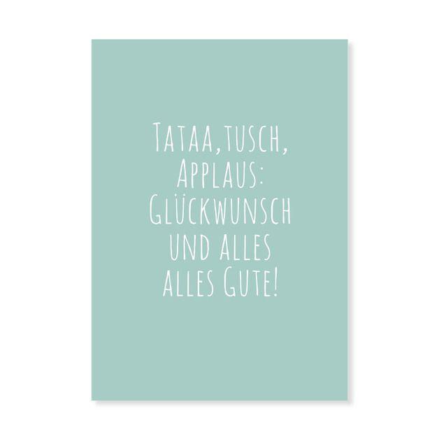 Tataa Geburtstagskarte Postkarte Spruch