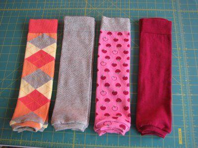 How to make little girl leg warmers!