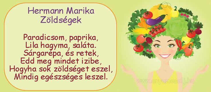 Mesés mondóka a zöldségekről :)