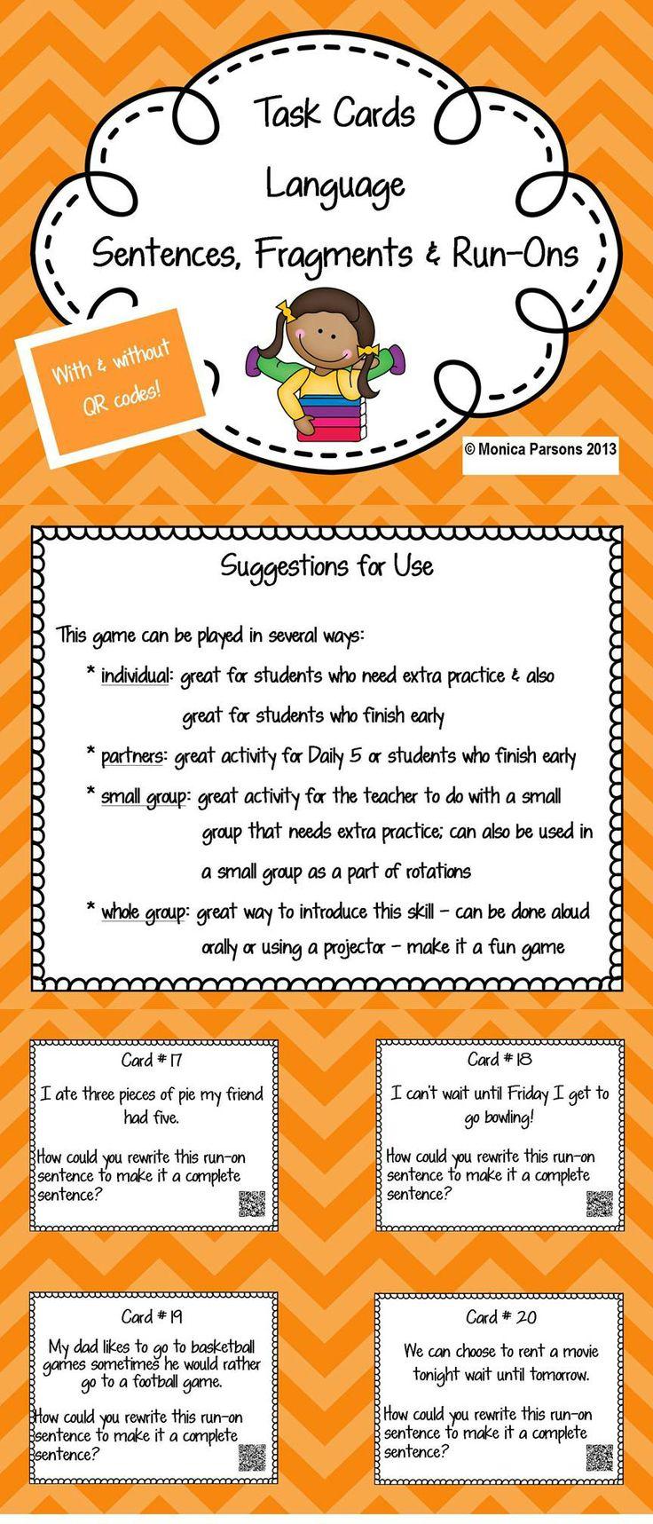 Writing Mini Lesson #4- Run-On Sentences