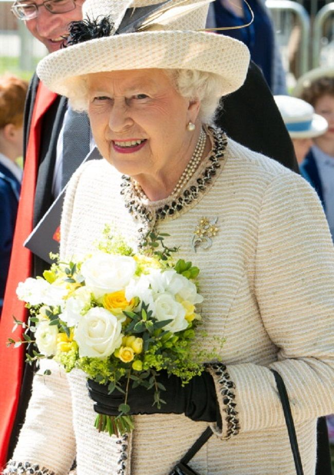 Queen Elizabeth II departs after her official visit to Felsted School on 06.05.2014 in Felsted, England. Her Majesty unveiled two plaques to commemorate the School's 450th anniversary and completion of a new boarding house.