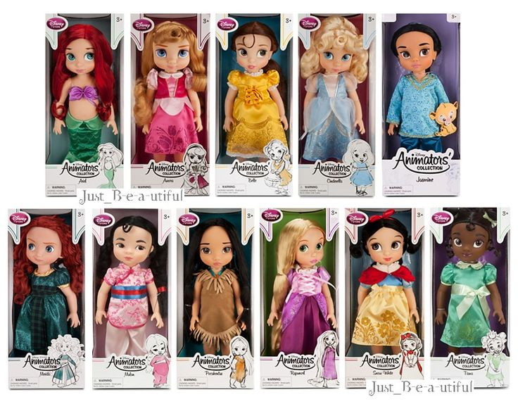 Disney Princess Doll Collection | Disney Animators 039 Collection 6 Princess Dolls Animator Doll Set New ...