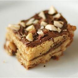 Hazelnut Nutella Blondies   Yummy Treats   Pinterest