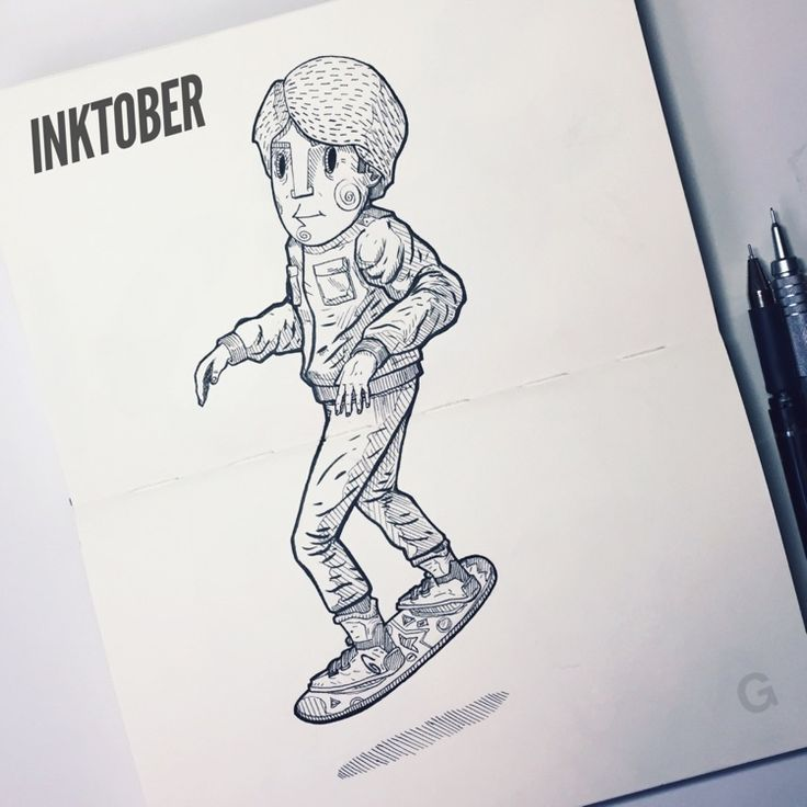 -21- #inktober #ink #illustration #inktober2015 #comics #character #caricature #sketchbook #gutaart #sketch #topcreator #skate #mask #halloween