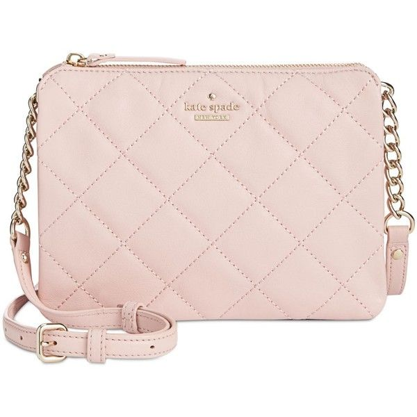 kate spade new york Emerson Place Harbor Crossbody (166.965 CLP) ❤ liked on Polyvore featuring bags, handbags, shoulder bags, pink granite, pink shoulder bag, kate spade handbag, pink cross body purse, pink crossbody purse and crossbody purses