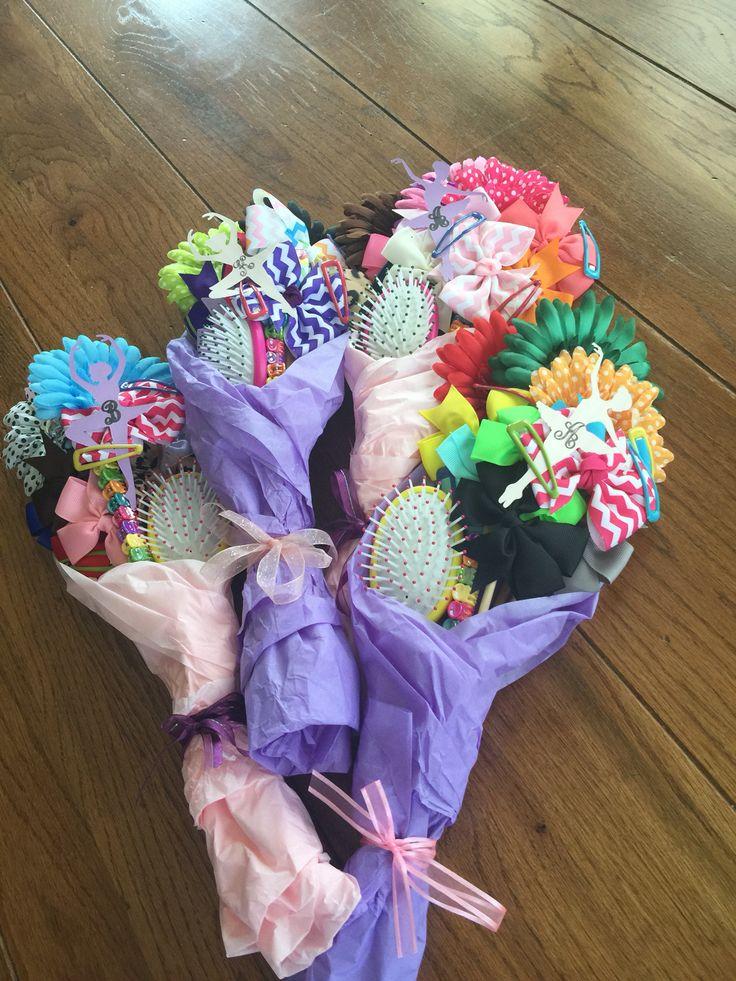 Hair Bows Bouquet for Dance Recital. Recital Gift for girls .