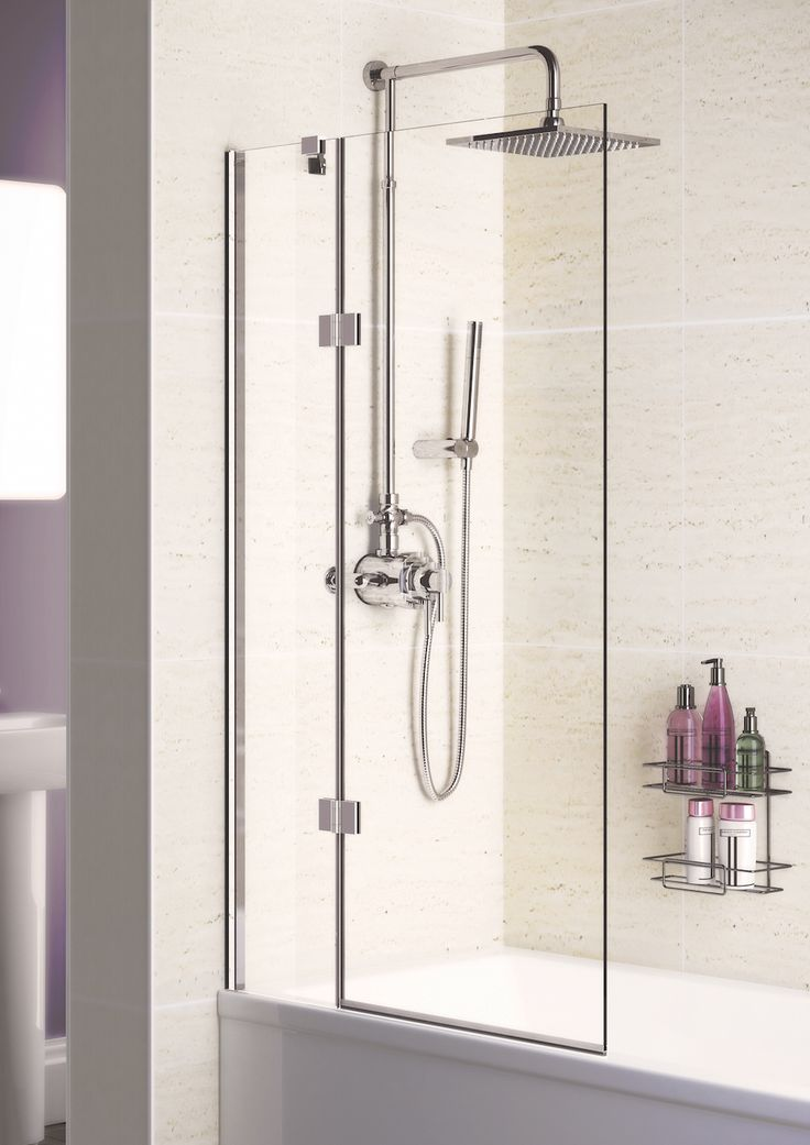 8mm Hinged Bath Screen › Lakes Bathrooms