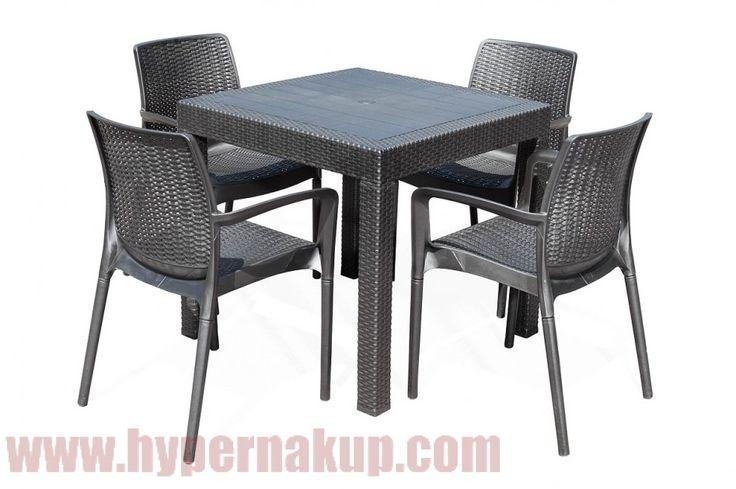 Tiež vás posedenie na záhrade alebo na terase nikdy neomrzí? Potom určite oceníte záhradný nábytok, ktorý je pevný a odolný. Tak veľmi, že mu neublíži slnečné lúče ani ho nerozmočí prvej dažďovej kvapky. Taký, ktorý bude aj po rokoch vyzerať ako nový. Inými slovami- záhradný nábytok set stôl a stoličky G21 KAILA QUATTRO.Pohodlne a bez údržby!Doprajte si pohodlie i vonku, zaslúžite si to! Súprava sa skladá z bytelného stola a 4 stoličiek s operadlami . Nábytok je vyrobený z plastu s imitáciou…