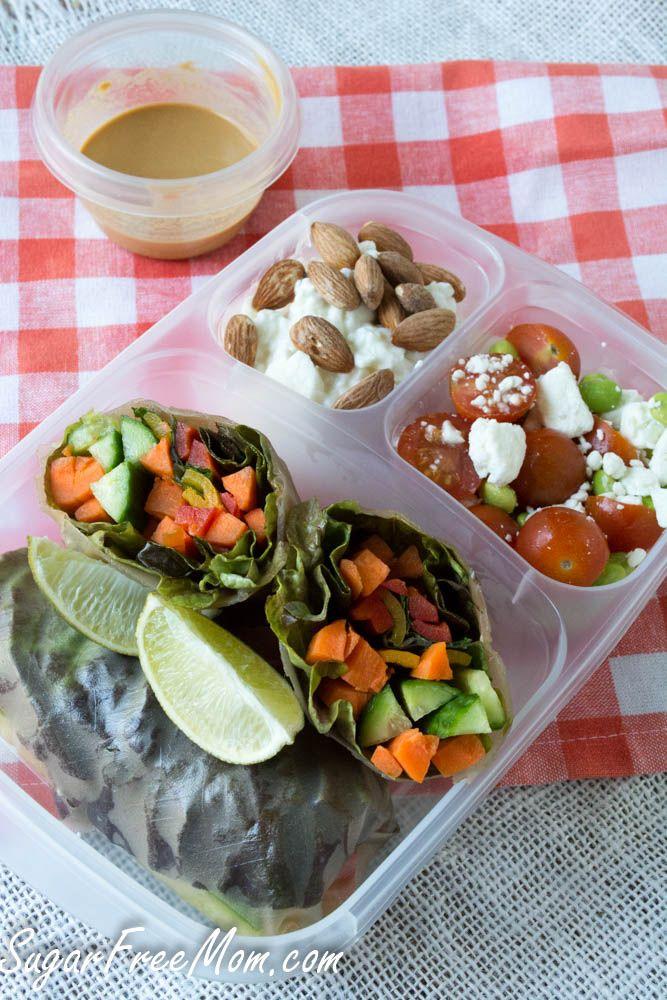 spring rolls lunchbox