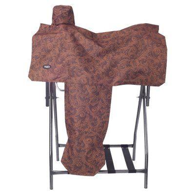 Tough-1 Heavy Denier Nylon Saddle Cover in Fun Prints Brown - 61-7906-750-0, JTIN1786-2