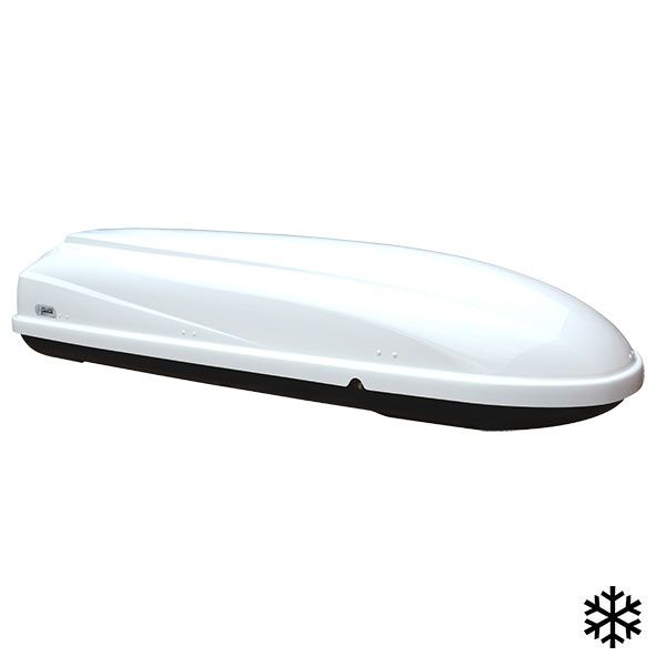 Coffre de toit SKIBOX qui vous permettra de transporter vos équipements de sport d'hiver !