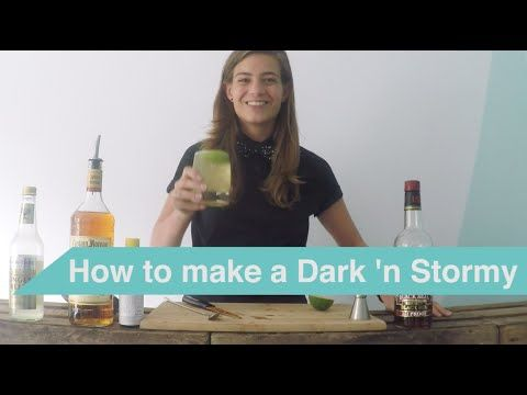 Tess Posthumus shows you in a series of tutorial videos how you can make delicious cocktails at home. Create this classic Dark 'n Stormy cocktail yourself!