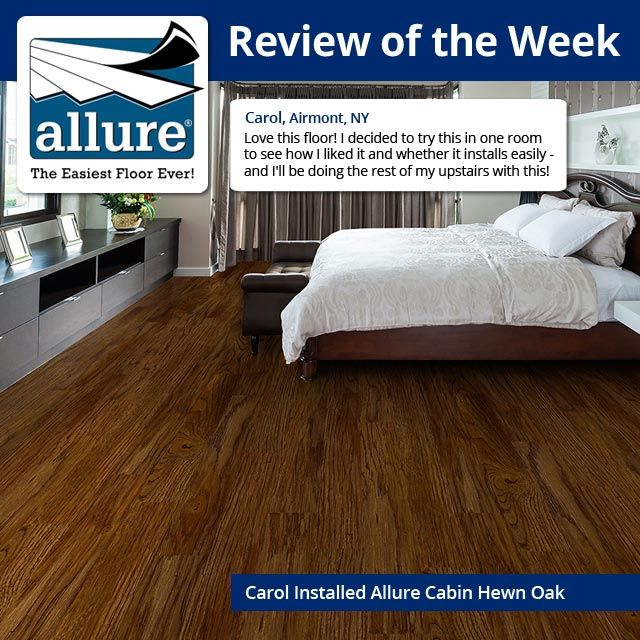 Add The Warm Comfortable Style Of Real Wood To Your Indoor Living Space Using TrafficMASTER Allure Cabin Hewn Oak Luxury Vinyl Plank Flooring