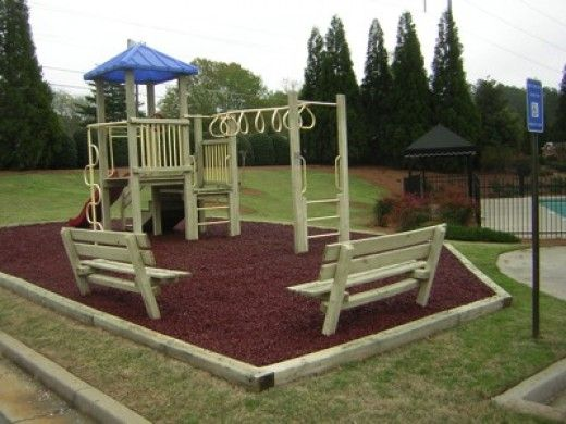 15 best images about mulch designs on pinterest for Playground equipment ideas