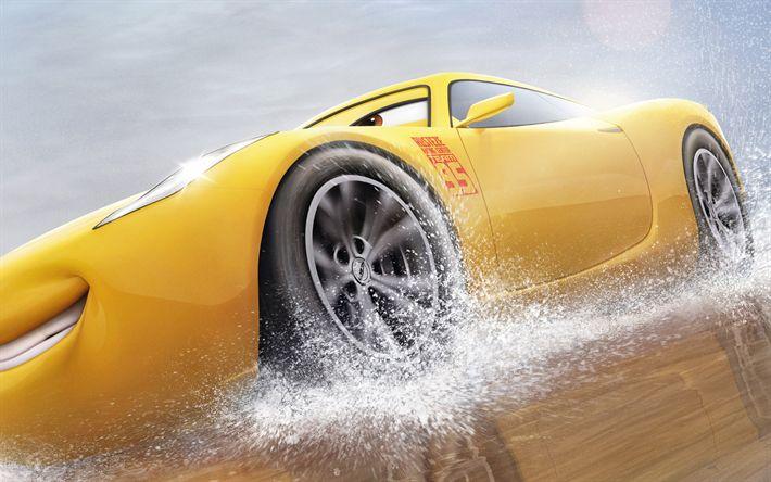 Descargar fondos de pantalla Los coches 3, de Disney, Cruz Ramírez, de Pixar, 2017 película, 3d-animación