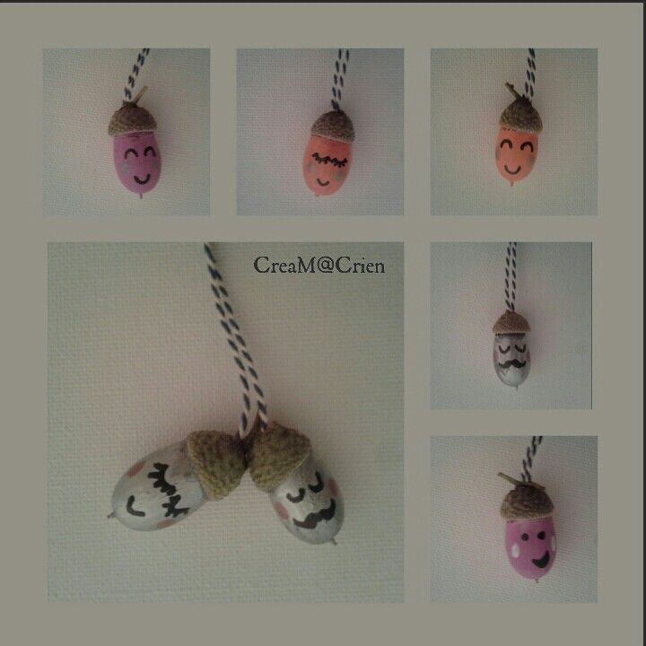 Made by me... blije eikels (ketting)