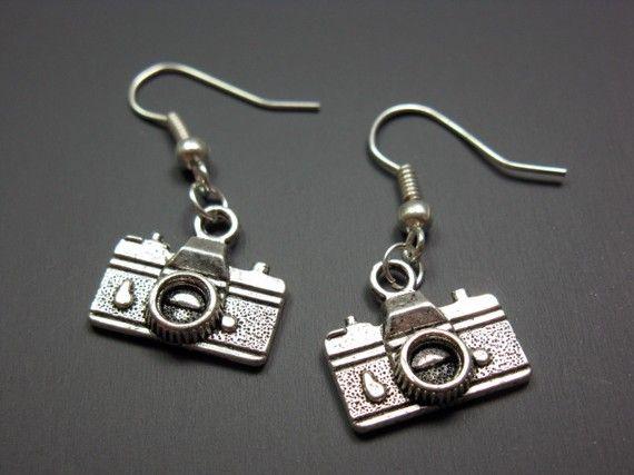 Camera Earrings  geek chic jewelry funny jewellery by Szeya, $9.99