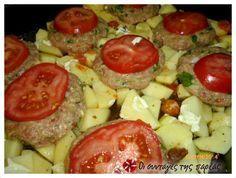 Μπιφτεκια με κιμα και λαχανικα