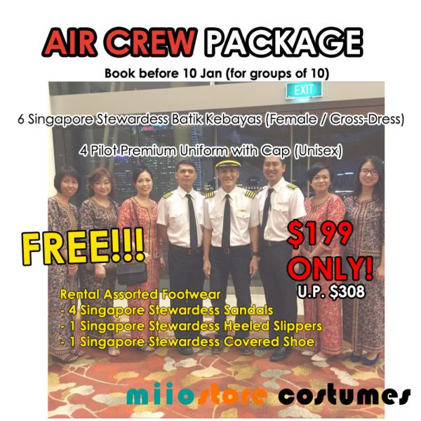 Air Crew Package - miiostore Costumes Singapore