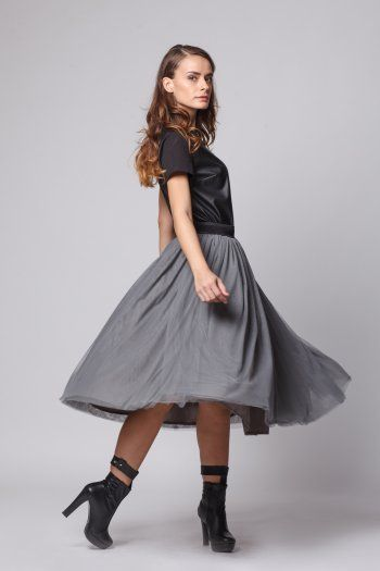 Happy Friday - Star of change- grey tulle skirt