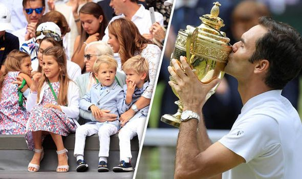 Roger Federer in tears as children see his Wimbledon triumph