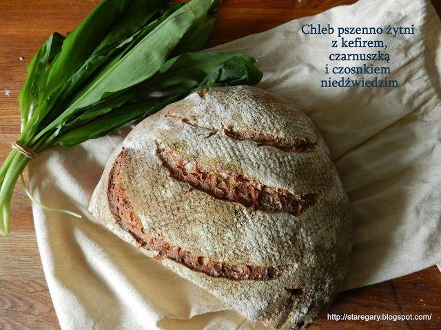 Stare Gary: Chleb pszenno żytni z kefirem, czarnuszką i czosnk...