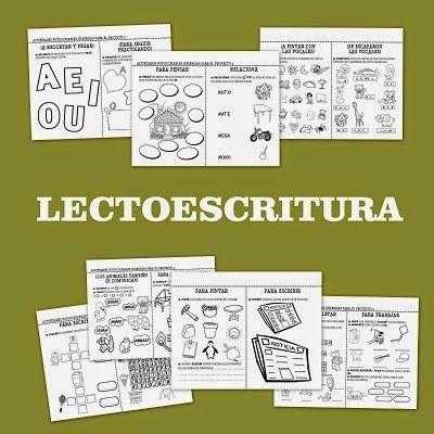 Paquete de fichas de trabajo para el aprendizaje de la lectoescritura, una colección de ejercicios para que los niños de primer grado afi...