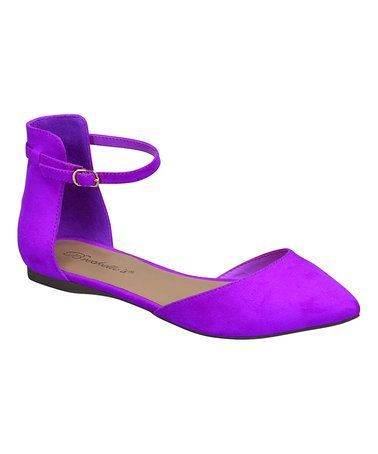Loving this Magenta Dolley Ankle-Strap Flat on #zulily! #zulilyfinds