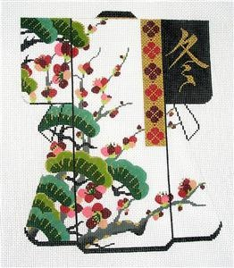 "Exclusive Lee Oriental 4 Seasons Kimono ""Winter"" Handpainted Needlepoint Canvas…"