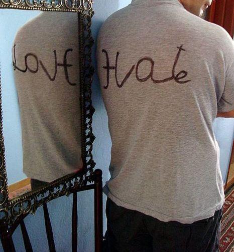 Turn hate into love . . .cool tattoo idea