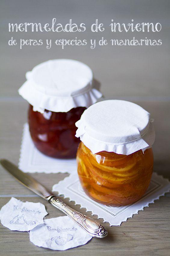 Mermeladas de invierno: de pera y mandarina
