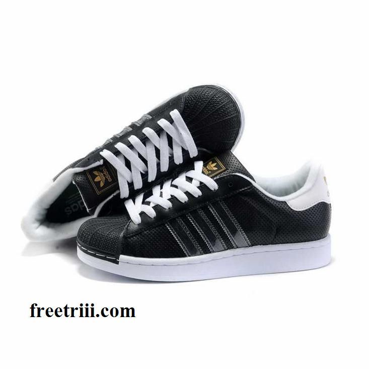 addidas shoes for men shell top | ... Shoes Black With Gold Logo For