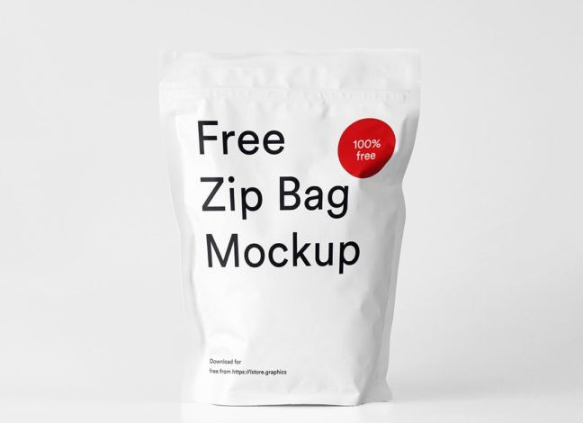 Download Free Zip Bag Mockup Bag Mockup Zipped Bag Mockup