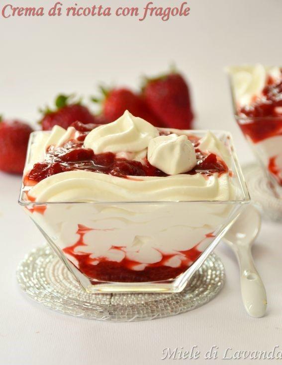 Crema di ricotta con fragole