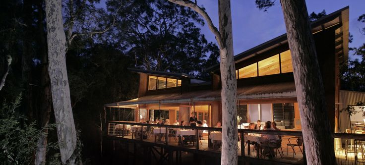 Situated amongst the treetops, the Gunyah Restaurant in the Paperbark Camp #hotel offers modern cuisine with an emphasis on locally grown and sourced produce. Perfect for the more adventurous traveler's! #Australia