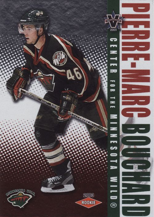 ... JERSEY TS Pierre-Marc Bouchard RC 118 - 2002-03 Pacific Vanguard Hockey  NHL Rookie. f18ff7085