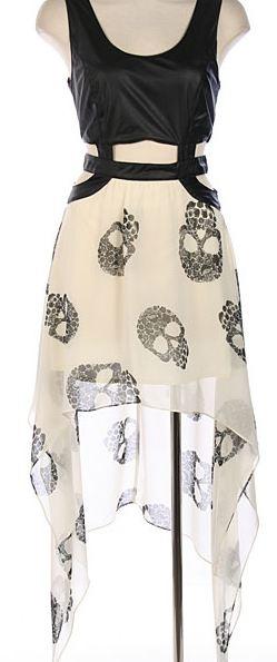 Leatherette Skull Dress from www.shopftgs.com