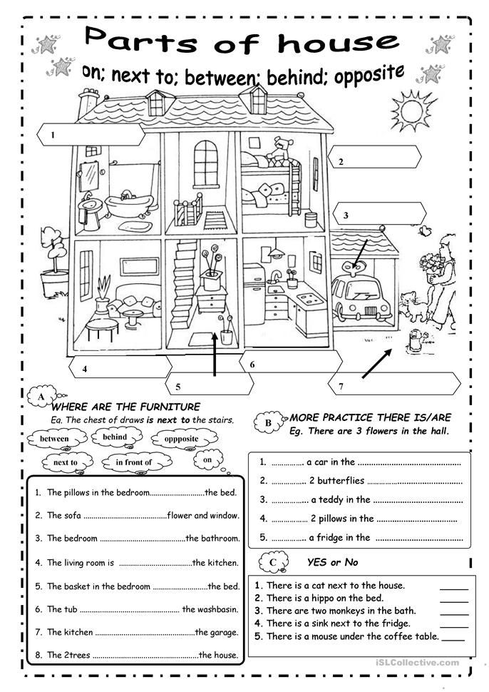 Parts Of The House Worksheet - Free ESL Printable Worksheets Made B… English  Teaching Resources, English Worksheets For Kids, English Language Learning  Activities