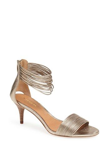 COACH 'Manya' Sandal almost out of stock at #Nordstrom. Remember heel will fall through the sand.