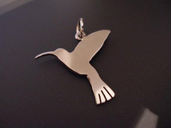 Hummingbird sterling silver charm - £14.99