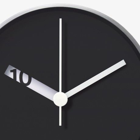 Extra Normal Wall Clock / The Extra Normal Wall Clock is a creation by American designer Ross McBride.  http://thegadgetflow.com/portfolio/extra-normal-wall-clock/
