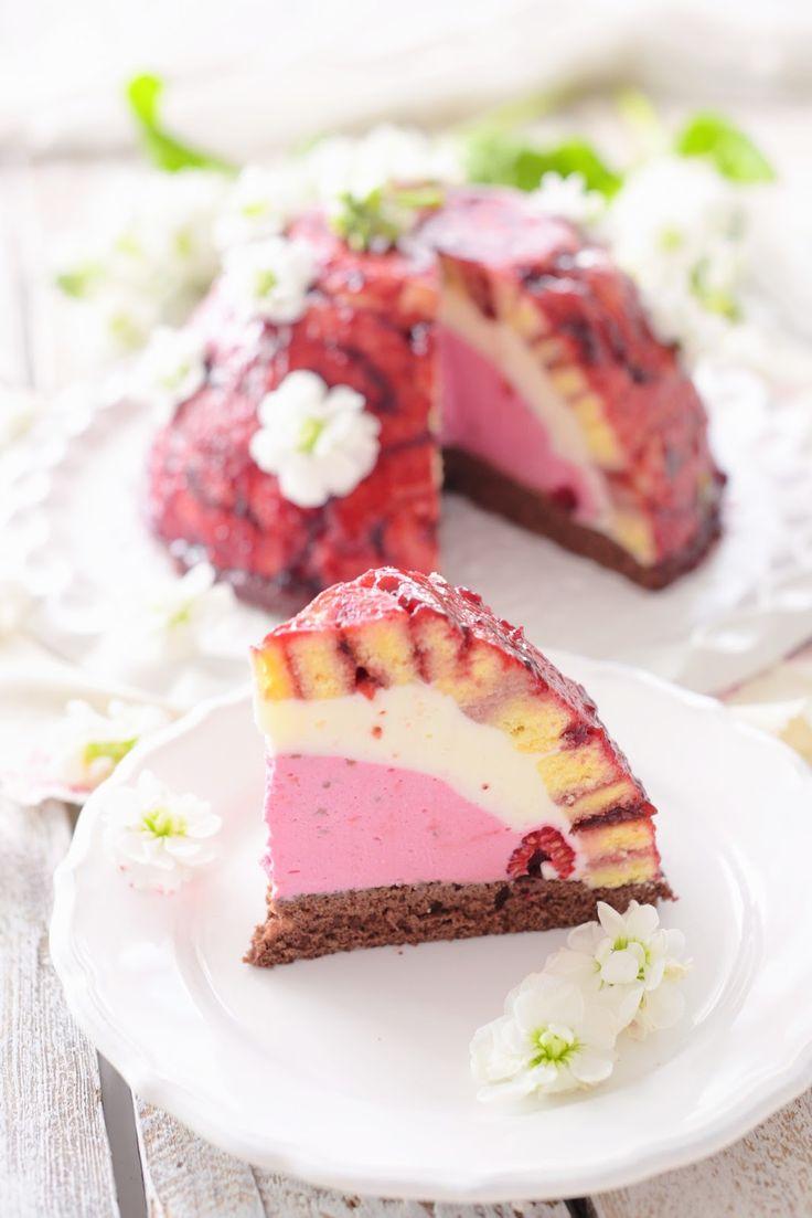 Kessy's Pink Sugar: Sommerliche Himbeer Charlotte - zum Schulanfang(Mini Raspberry Muffin)