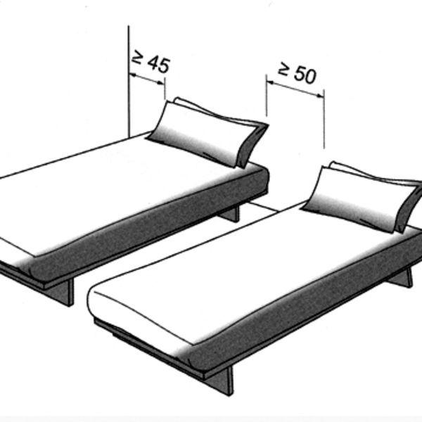 Deux lits jumeaux qu'on sépare