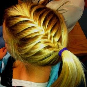 first post for my softball braids board. this one is so cute
