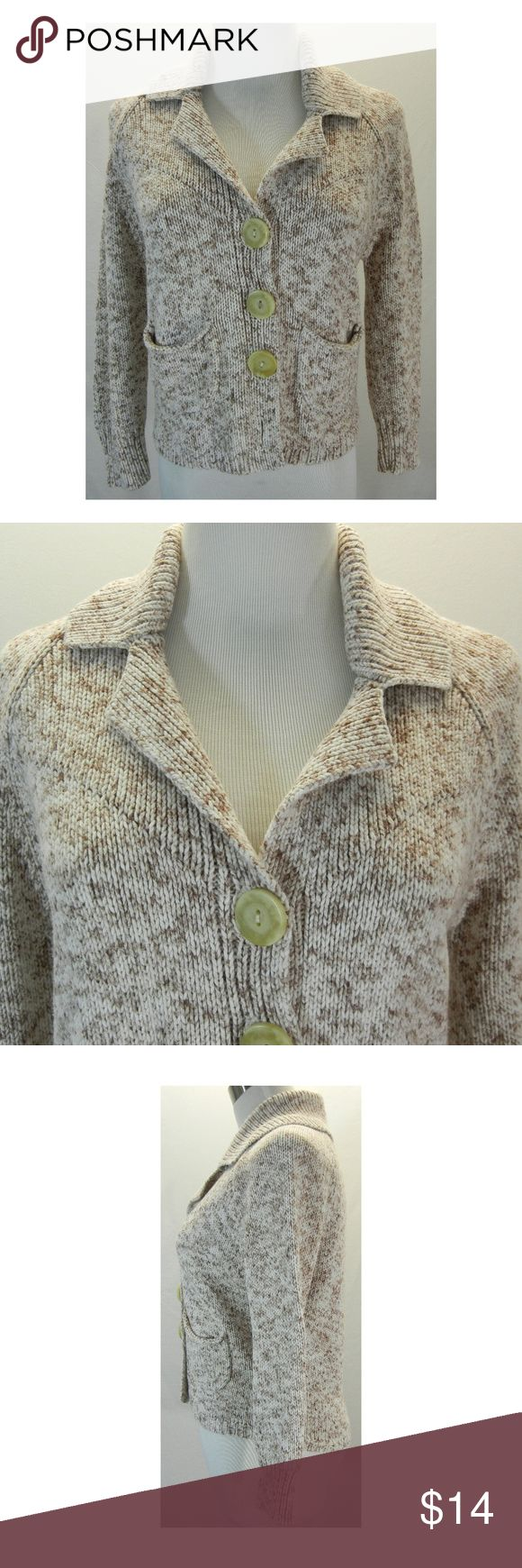Hwr anthropologie marled cropped cardigan sweater