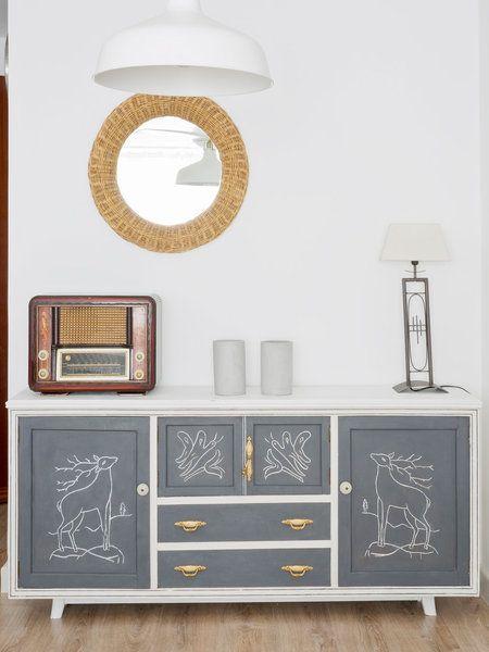 M s de 25 ideas fant sticas sobre aparador pintado en for Muebles pintados a la tiza