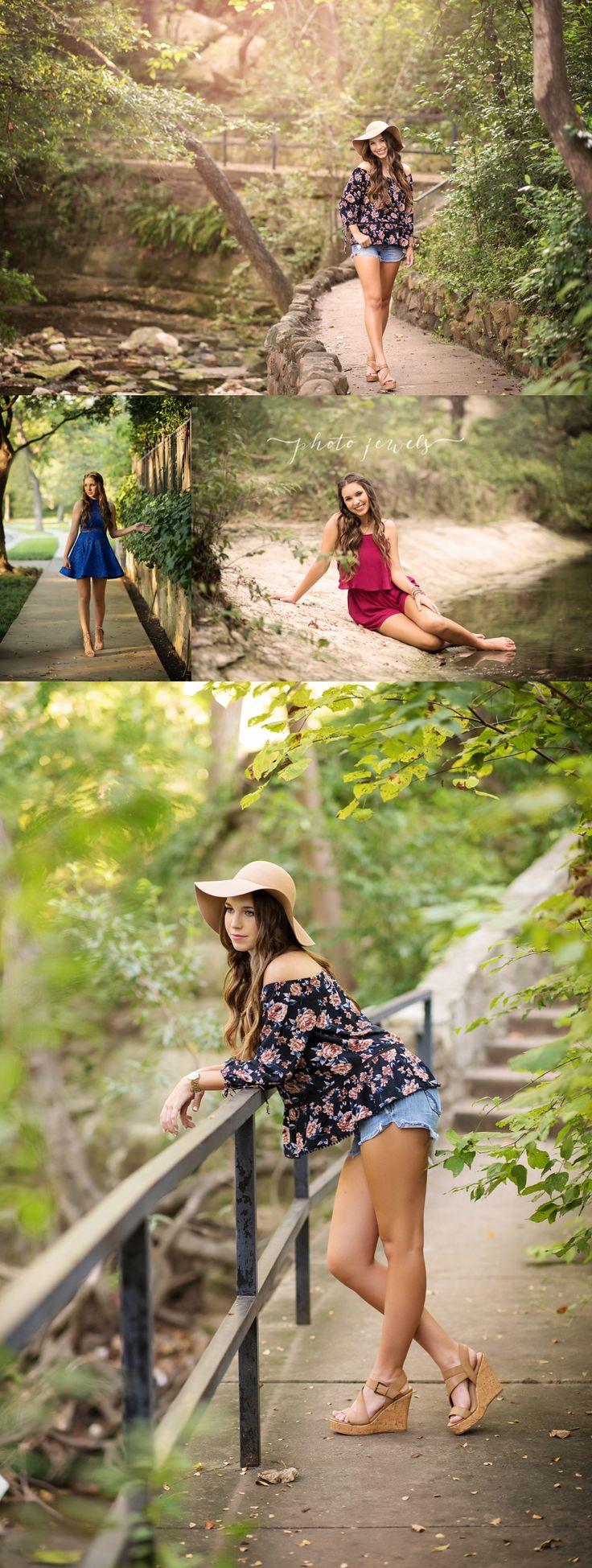 senior girl, senior pic ideas, floppy hat, creek, water, senior shoot park, photo jewels rockwall