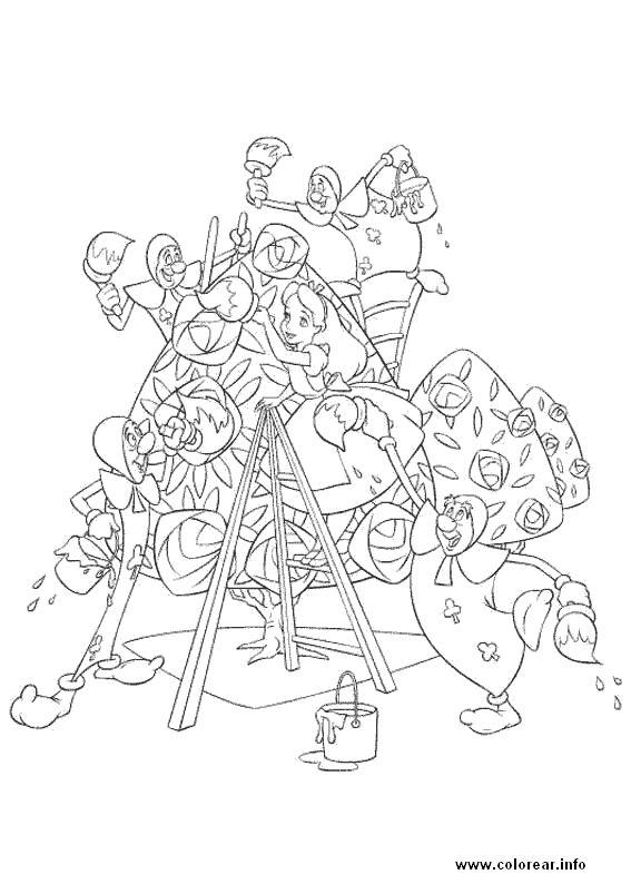 Dorable Alice In Wonderland Para Colorear Libro Inspiración - Ideas ...