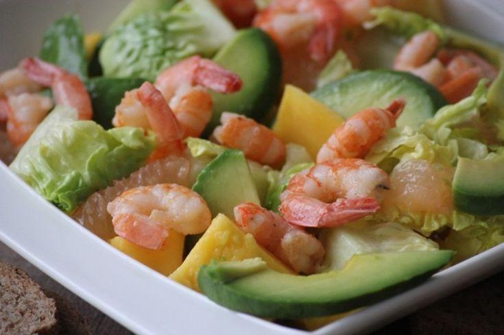 Salade de crevettes à la Mangue  Pamplemousse | Recettes de cuisine africaine
